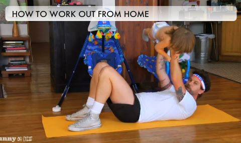 Workout with Your Kids at Home! Funny Video