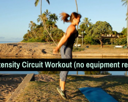 High Intensity Circuit Workout, No Equipment Required
